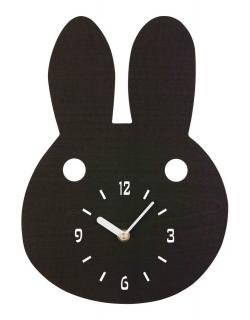 la de dah kids Wood Animal Wall Clock (Rabbit)