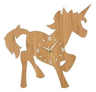la de dah kids Wood Animal Wall Clock (Unicorn)