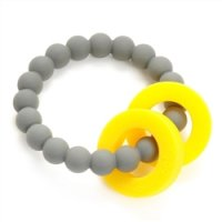 Last 1!! 30%Off!! Chewbeads Mulberry Teether (Stormy Grey, Turquoise)