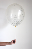 Confetti Filled Balloon - Sterling