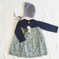 Nature en Scéne☆Angelique Dress (Blue) 6m,12m,18,24m