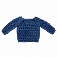 Misha and Puff☆Summer Popcorn Sweater/ Indigo (18-24m, 2-3y, 3-4y)