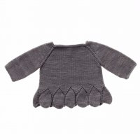 Misha and Puff☆Peplum Pullover / Driftwood (18-24m, 2-3y, 3-4y)
