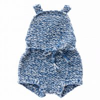30% Off! Misha and Puff☆Starfish Sunsuit / Indigo (6-12m, 12-18m, 18-24m, 2-3y, 3-4y)