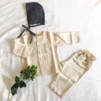 BABE & TESS Long Sleeve Shirt Natural (12m, 18m, 24m)