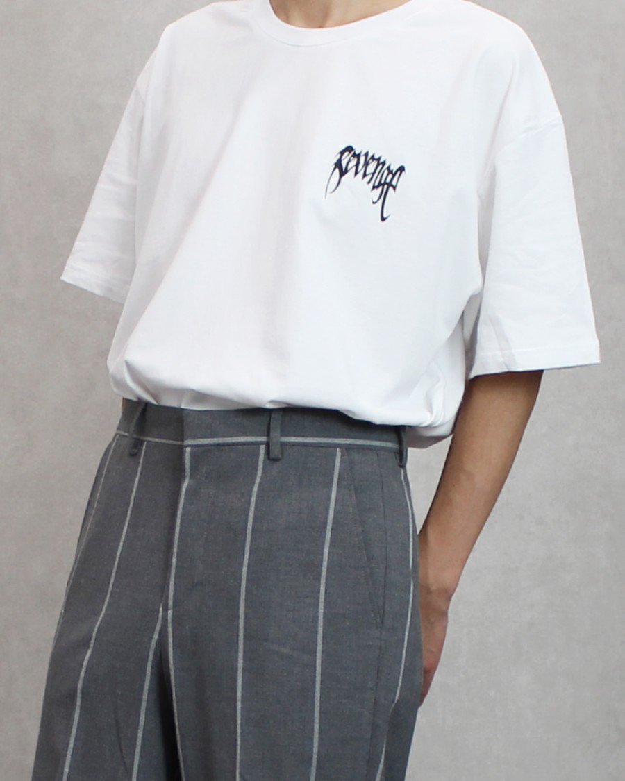 Revenge Basic Logo T-Shirt / White