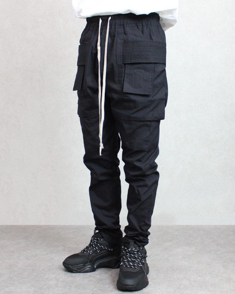 mnml Drop Crotch Cargo Pants - Black