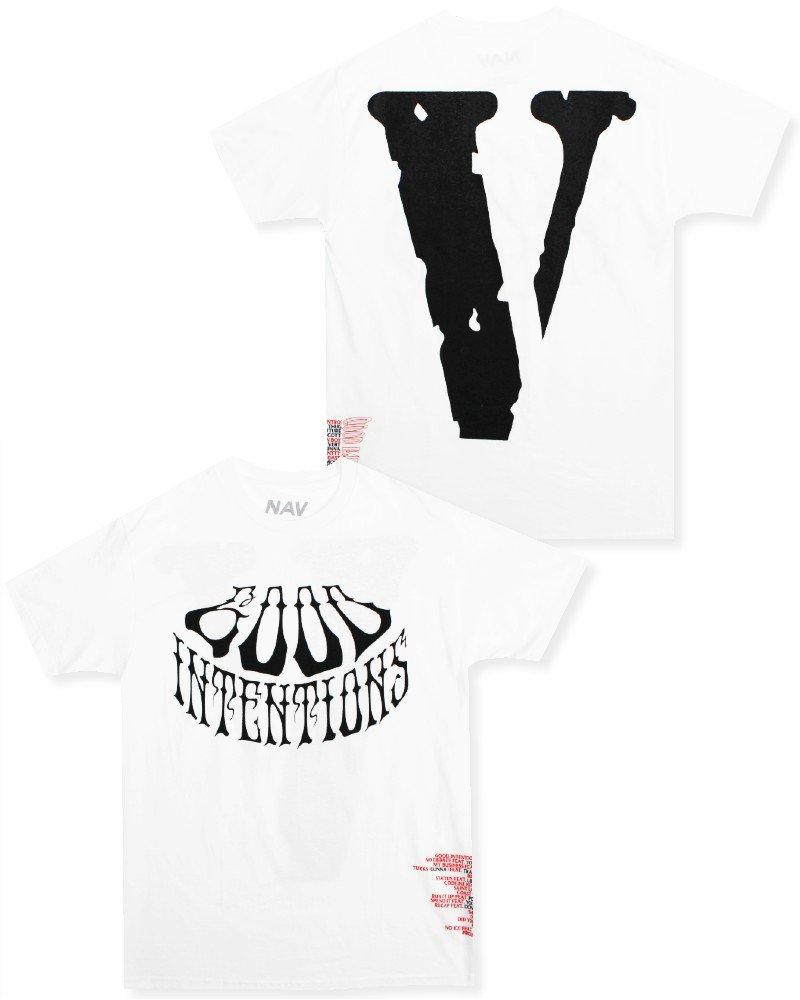 Nav Official x Vlone Good Intentions T-Shirt - White/Black