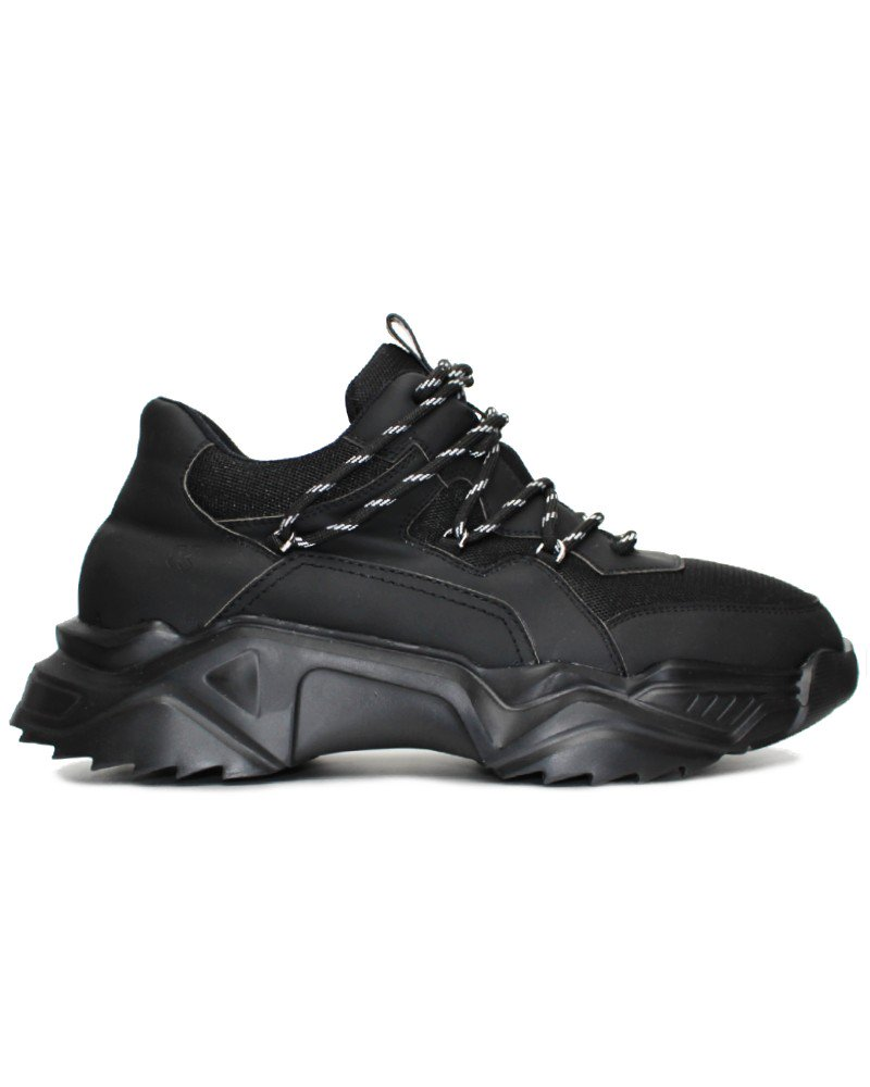 Koi Footwear Vegan Wolf Pack Chunky Sole Trainers - Black