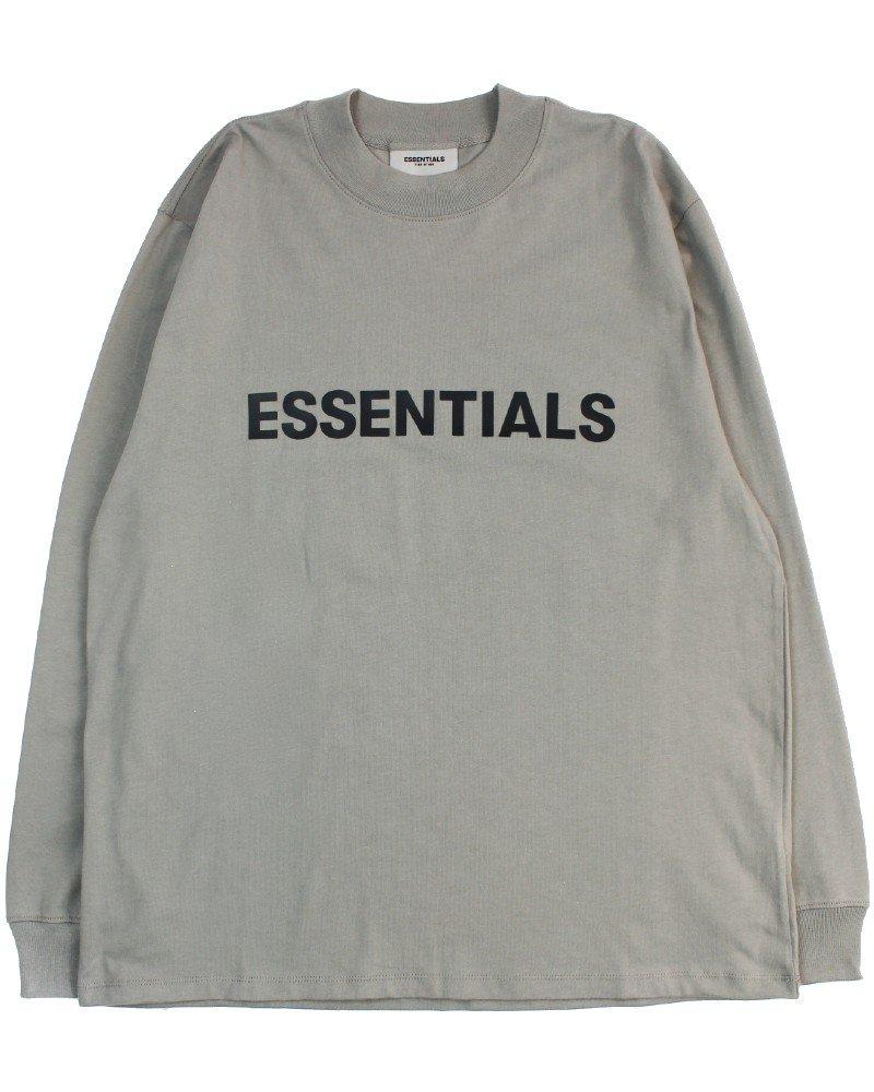 FOG - Fear Of God Essentials Logo L/S T-Shirt - Cement [フィアオブゴッド]