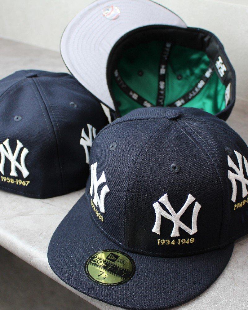 New Era 59Fifty New York Yankees Logo Cap - Navy
