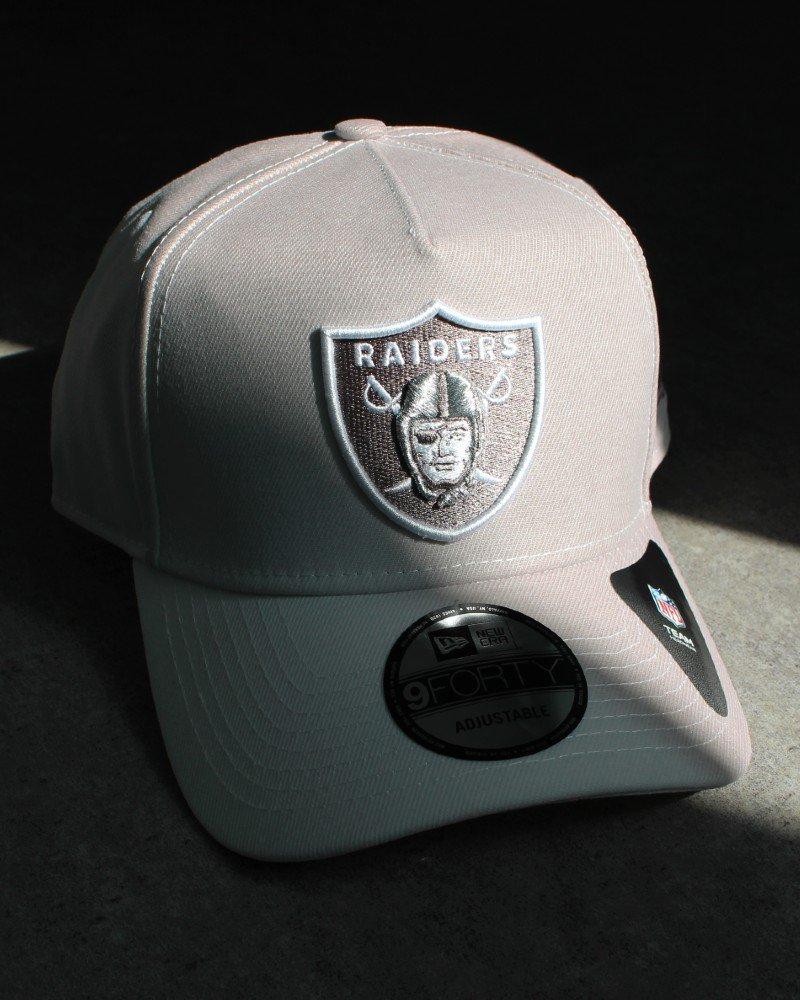 New Era 9Forty A-Frame Raiders UV Active Snapback Cap - White