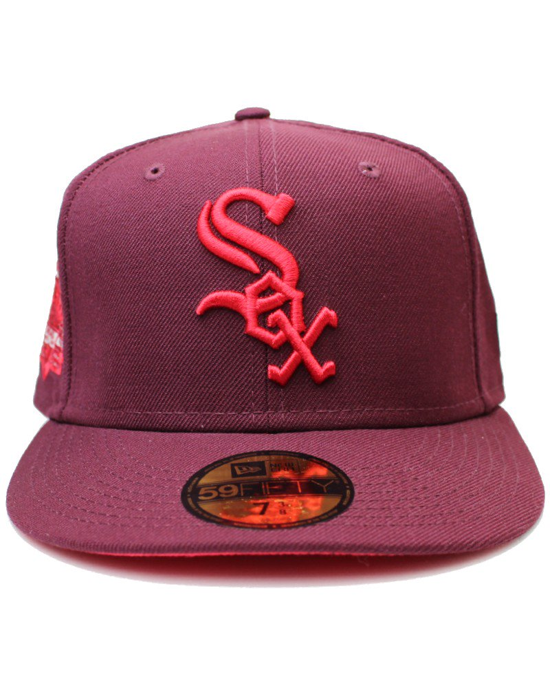 New Era 59Fifty Sweathearts Chicago White Sox Comiskey Patch Pink UV - Maroon