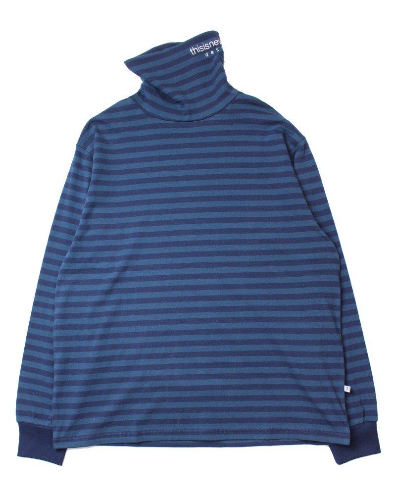 thisisneverthat Striped Turtleneck L/S T-Shirt - Navy