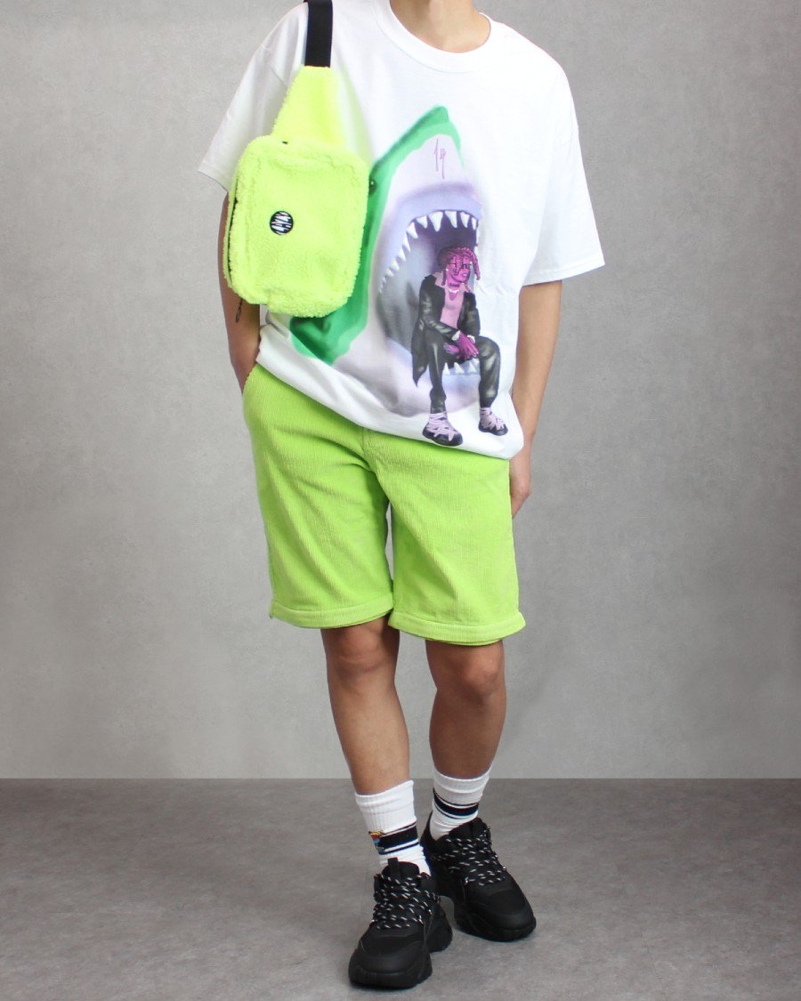 Trippie Redd Official 1400 Club Neon Shark Airbrush T-Shirt - White