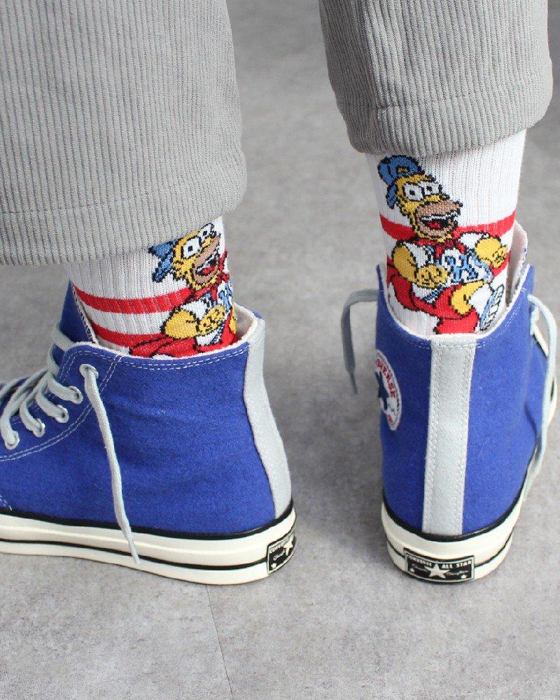 The Simpsons Hi Socks - White/Red