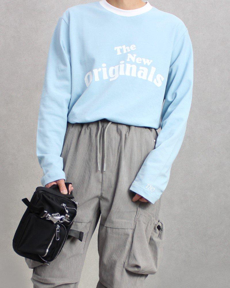 The New Originals(TNO) Workman L/S T-Shirt - Blue/White