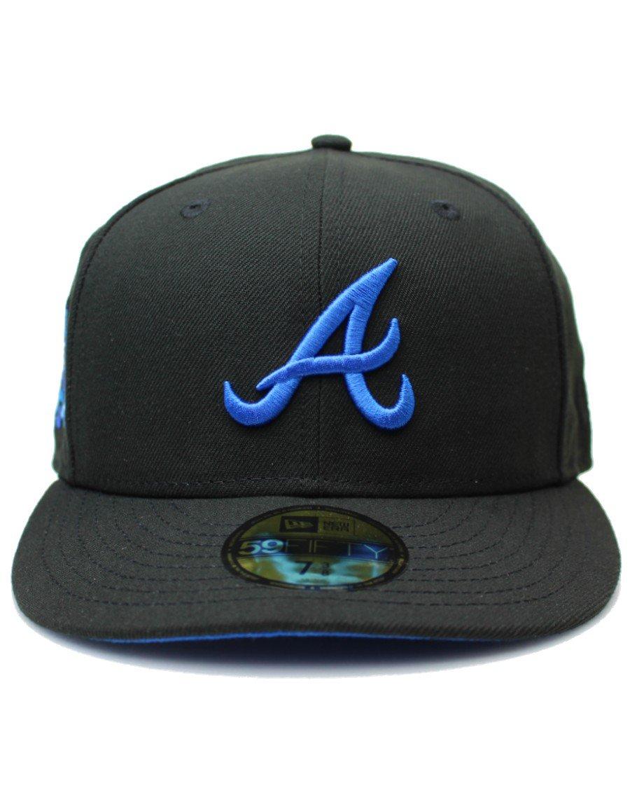 New Era 59Fifty Blackberry Atlanta Braves 2021 All Star Game Patch Cap Royal UV - Black