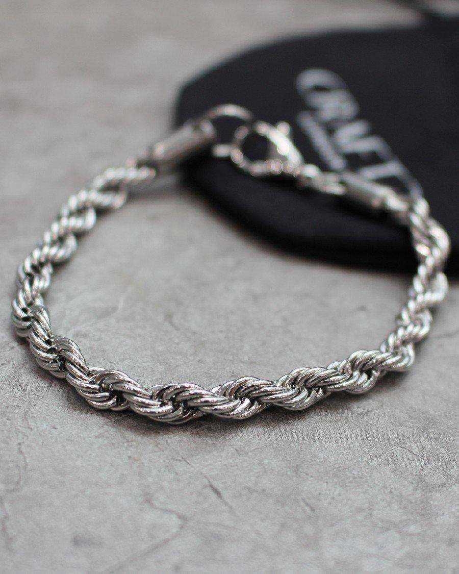 CRAFTD London Rope Bracelet - Silver