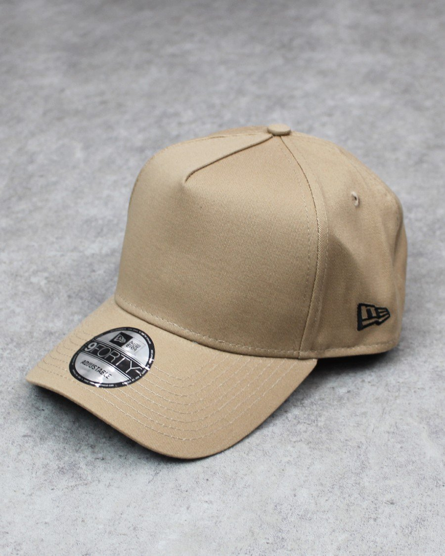 New Era 9Forty A-Frame Snapback Cap - Beige