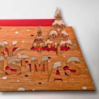 木製ポップアップカード(メリークリスマス)