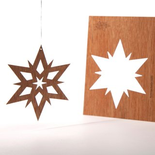 木製ポストカード(ダブルスター)