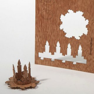 木製ポストカード(アドベントリース)