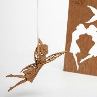 木製ポストカード(妖精)