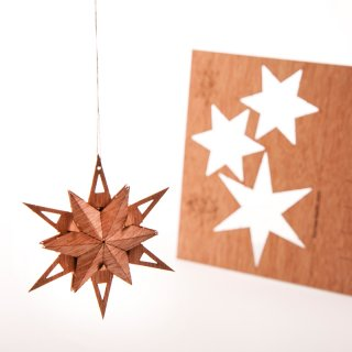 木製ポストカード(星No.5)