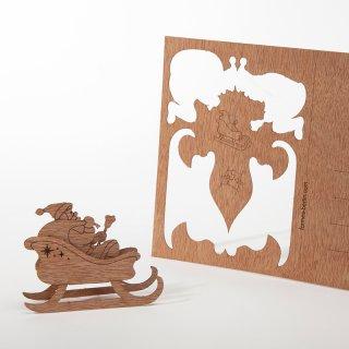 木製ポストカード(サンタクロース)