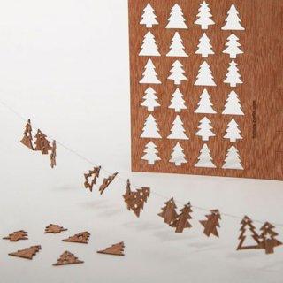 木製ポストカード(24のもみの木)