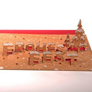 木製ポップアップカード(フローエス フェスト)