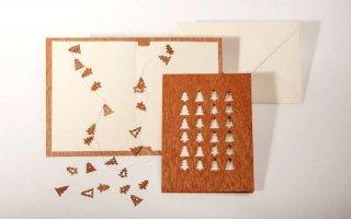 木製グリーティングカード(24ツリー)