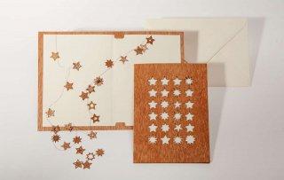 木製グリーティングカード(24スター)