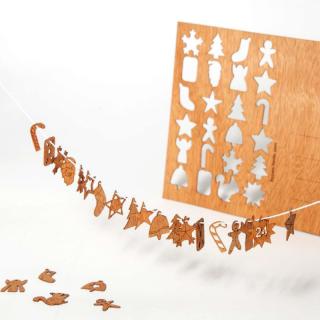 木製ポストカード(アドベントカレンダー)