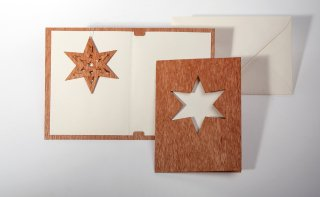 木製グリーティングカード(トゲつきスター)