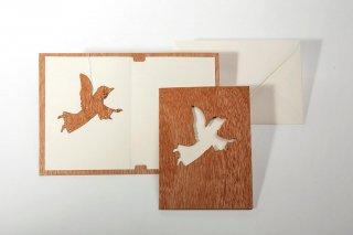 木製グリーティングカード(エンジェル)
