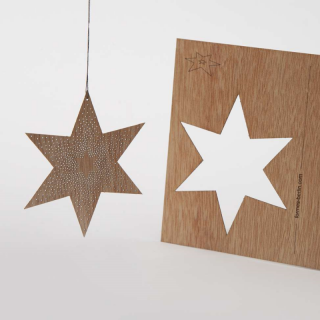 木製ポストカード(ドットスター)