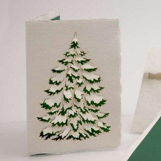 コットン製メッセージカード(モミの木ver.2)
