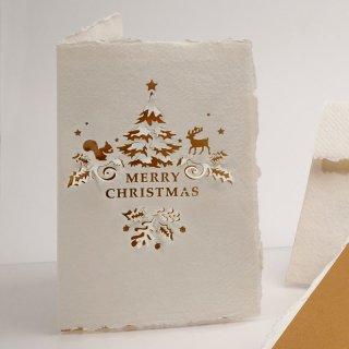 コットン製メッセージカード(メリークリスマス)