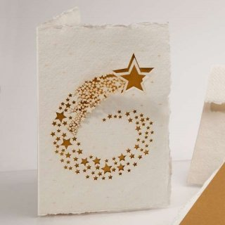 コットン製メッセージカード(流れ星)