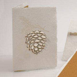 コットン製メッセージカード(松ぼっくり)