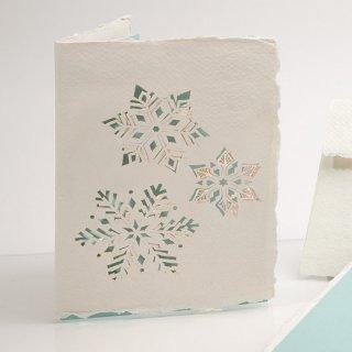 コットン製メッセージカード(雪)