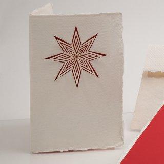 コットン製メッセージカード(スター)
