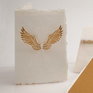 コットン製メッセージカード(天使の羽)