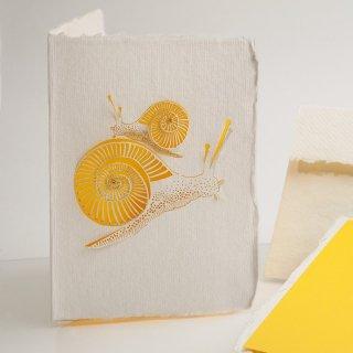 コットン製メッセージカード(カタツムリ)