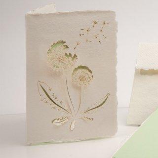 コットン製メッセージカード(たんぽぽ)