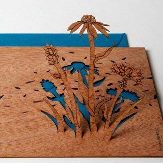 木製ポップアップカード(花)