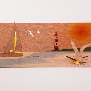 木製ポップアップカード(ヨット)