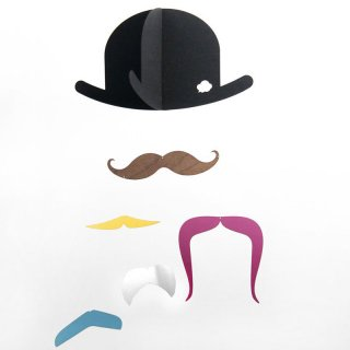 Mr. Mustache モビール<img class='new_mark_img2' src='https://img.shop-pro.jp/img/new/icons16.gif' style='border:none;display:inline;margin:0px;padding:0px;width:auto;' />